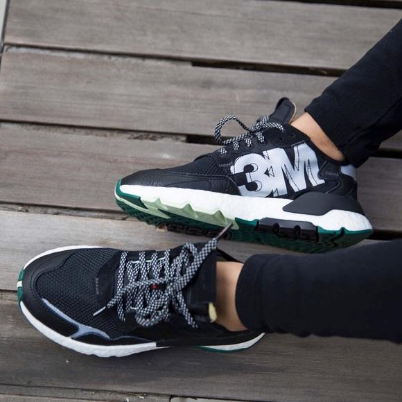 NEW Adidas Nite Jogger Women's 7 3M Black